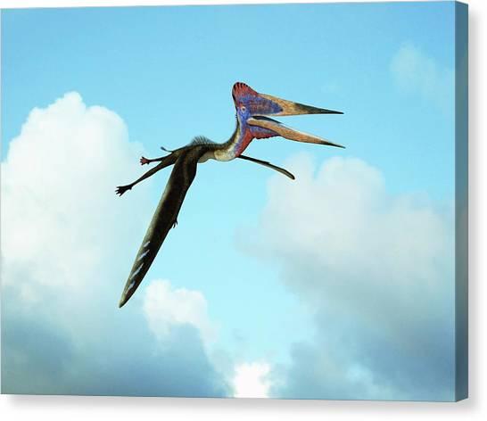 Pterodactyls Canvas Print - Zhejiangopterus by Walter Myers