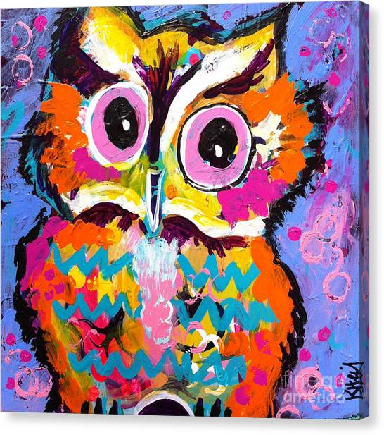Ziggy The Great Horned Owl Canvas Print