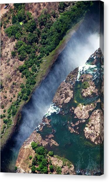 Victoria Falls Canvas Print - Zimbabwe, Victoria Falls by Kymri Wilt