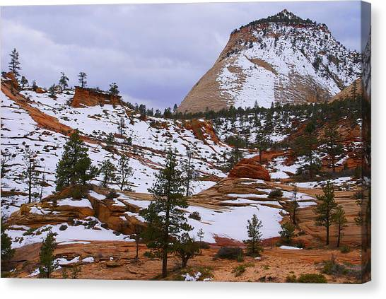 Zion Landscape Canvas Print