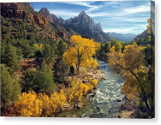 Zion National Park In Fall Canvas Print