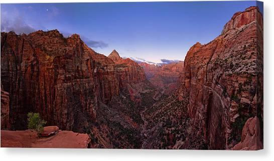 Desert Sunrises Canvas Print - Zion's Twilight by Chad Dutson