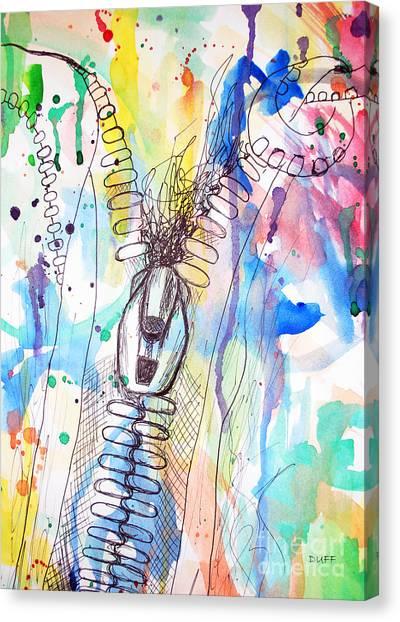 Zip It Canvas Print by Josie Duff