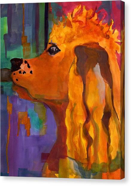 Cocker Spaniels Canvas Print - Zippy Dog Art by Blenda Studio