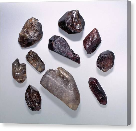 Nigeria Canvas Print - Zircon Specimens by Natural History Museum, London/science Photo Library