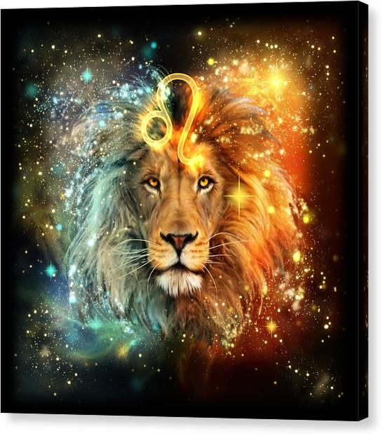 Astrology Canvas Print - Zodiac Leo by Ciro Marchetti