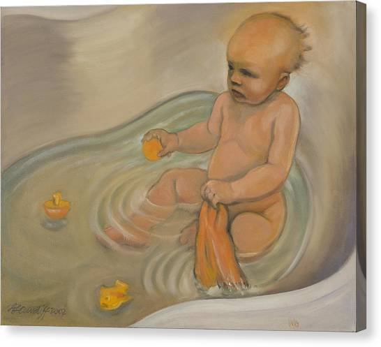 Zoe's Bath Canvas Print