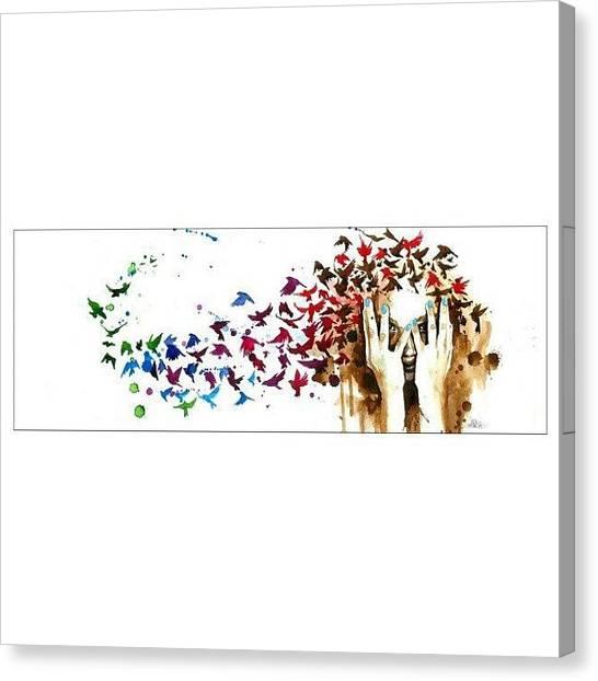 Apocalypse Canvas Print - Zombie And Birds by Jade Alexa Terando