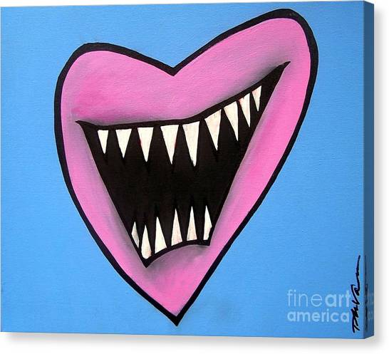Zombie Heart Canvas Print