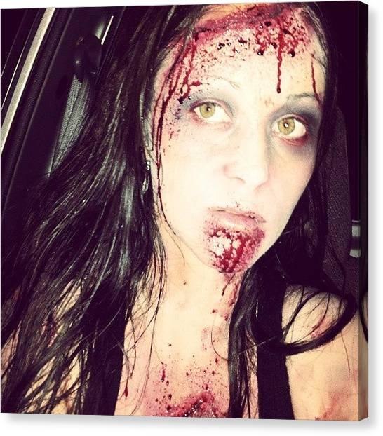 Halloween Canvas Print - #zombie #ilovehalloween #walkingdead by Mandy Shupp