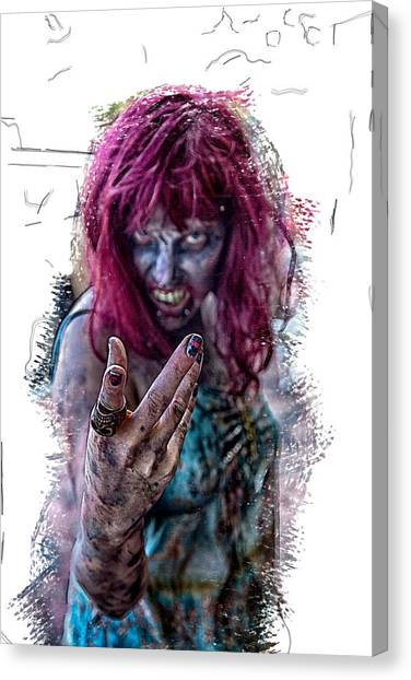 Zombie Want You Canvas Print by John Haldane