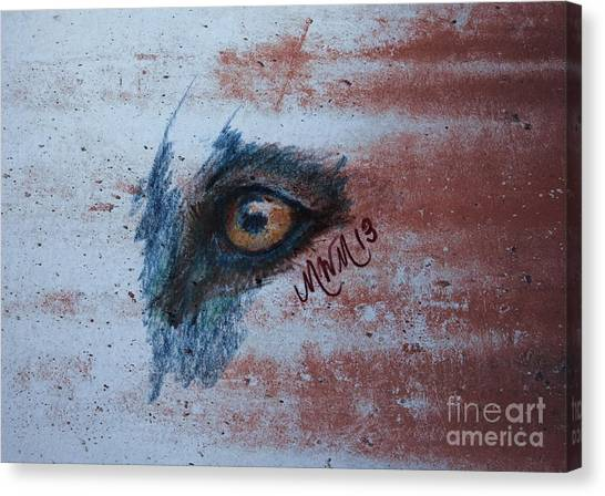 Zombie Wolf Eye Canvas Print