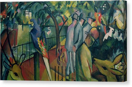 Cockatoo Canvas Print - Zoological Garden I, 1912 Oil On Canvas by August Macke