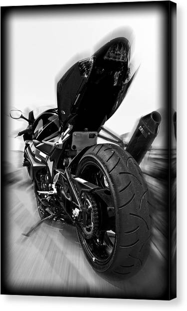 Zoomed Gsxr Canvas Print