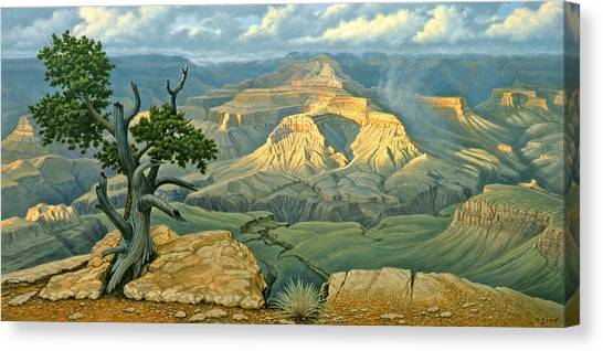 Grand Canyon Canvas Print - Zoroaster Temple From Yaki Point by Paul Krapf