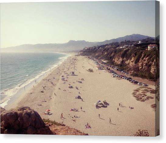 Zuma Beach At Sunset Malibu, Ca Canvas Print