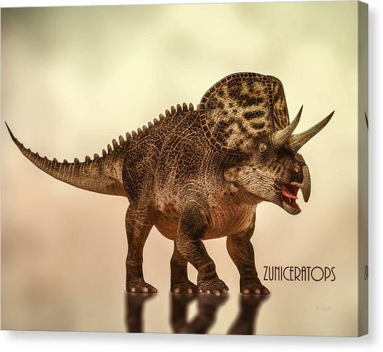 Natural History Museum Canvas Print - Zuniceratops Dinosaur by Bob Orsillo