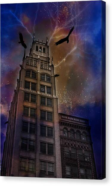 Zuul Visits Asheville Canvas Print