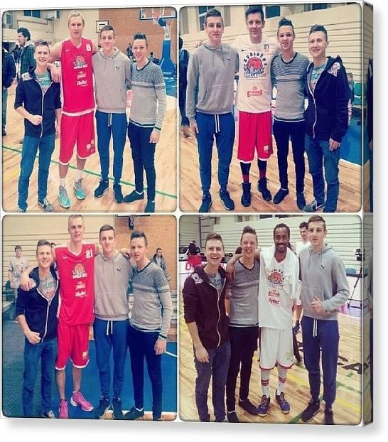 Basketball Players Canvas Print - Zvaigžnu Spēle! #basketball #ballers by Armands Kalvans