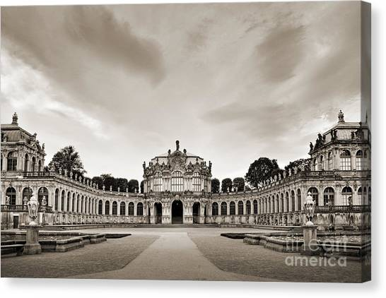 Rococo Art Canvas Print - Zwinger Palace by Delphimages Photo Creations