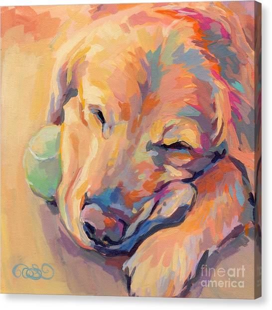 Golden Retriever Canvas Print - Zzzzzz by Kimberly Santini