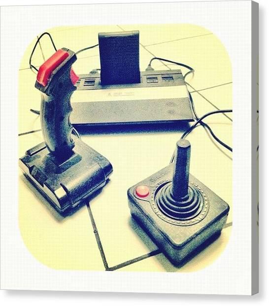 Atari Canvas Print - 👾 👾 👾 #atari #joystick by Remy Asmara