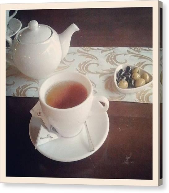 Tea Canvas Print - Зашли с @a_nastya в Карму)) by Irina Rudakova