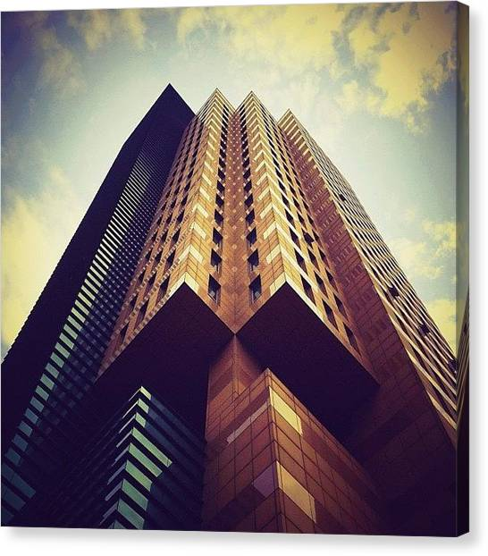 Angle Canvas Print - 四角山 // Four-cornered Mountain by Kevin Mao