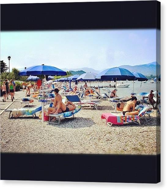 Bikini Canvas Print - 🇮🇹 🏄 Garda Lake 🌅 by Nancy Nancy