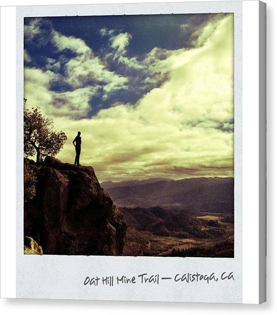 Trail Canvas Print - # 2. Oat Hill Mine Trail — #calistoga by Peter Stetson