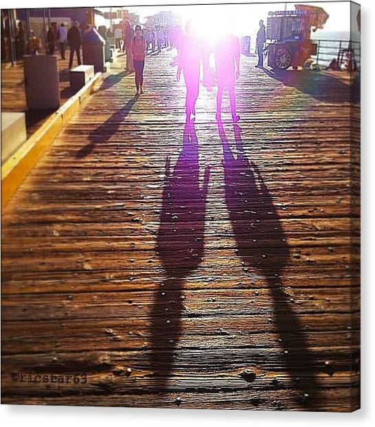 Outer Space Canvas Print -  #aliens Among Us#santa Monica Pier#los by Ric Spencer