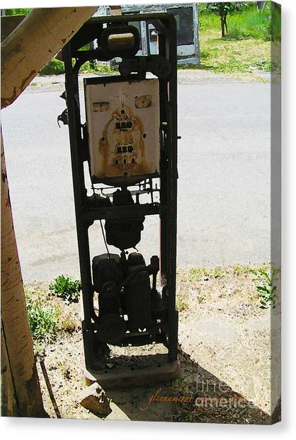 An American Vintage Gas Pump Series Two                    Canvas Print by Glenna McRae