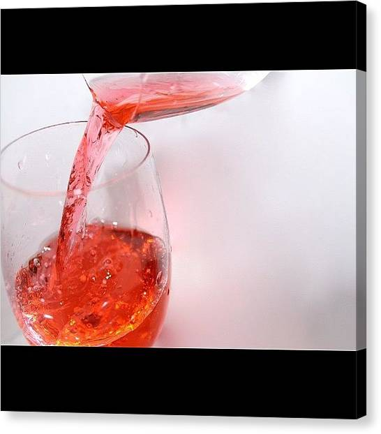 Red Wine Canvas Print - - Anyone Care For A Drink? #water #red by Anthony Wang