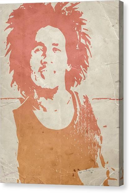 Jamaican Canvas Print -  Bob Marley Brown by Naxart Studio