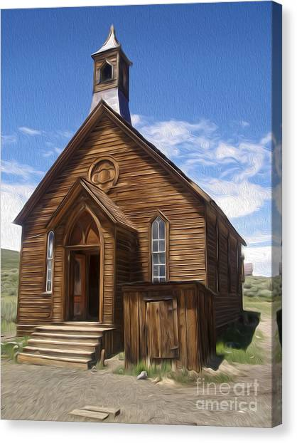 Bodie Ghost Town - Church 01 Canvas Print by Gregory Dyer