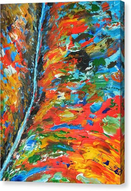 Canyon River Canvas Print by Everette McMahan jr