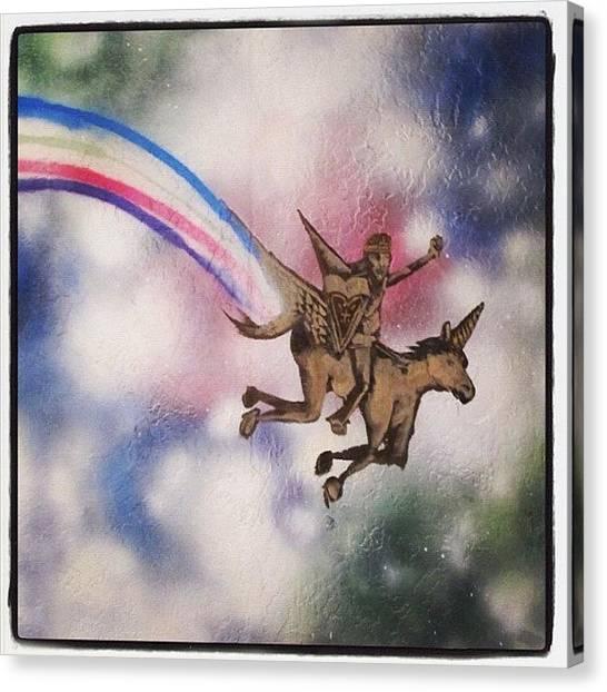 Unicorns Canvas Print - 🌈🌈 by Erik Jorgensen
