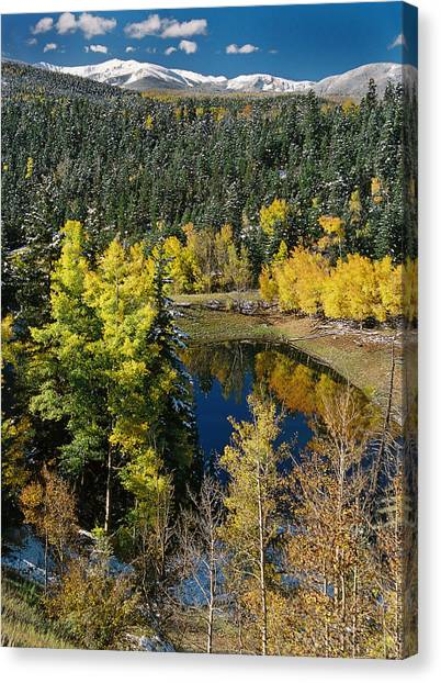 Fall Color On Bobcat Pass Canvas Print
