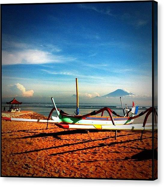 Volcanoes Canvas Print - ... First Morn On Bali ... View From by Brian Cassey