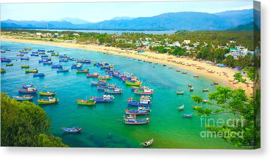 Yen Canvas Print -  Fishing Village by MotHaiBaPhoto Prints