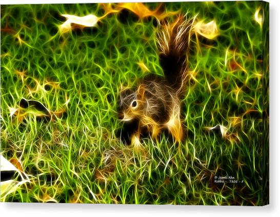 - Fractal - Pointer - Robbie The Squirrel Canvas Print
