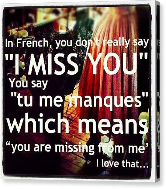 Quebec Canvas Print - *ْ I Love French!!! I Miss Hearing You by Rola Ayubi