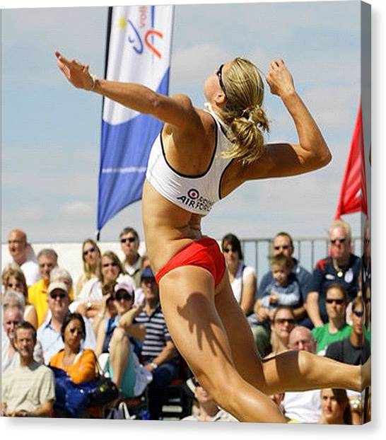 Volleyball Canvas Print - ^^^^^^^ I Want To Be Doing That One Day by Lou Mat