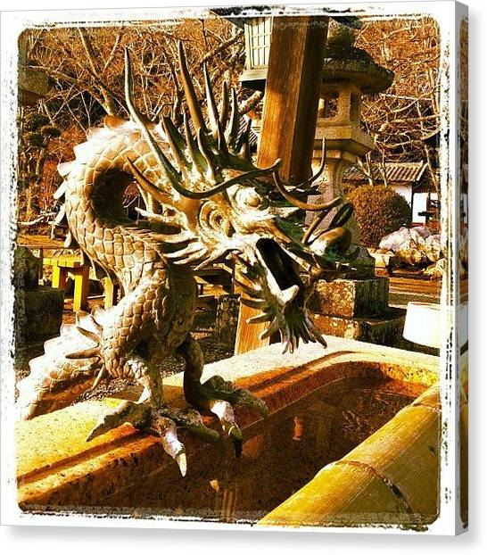 Dragon Canvas Print - 根来寺の龍 #iphone4 #temple by Morley🇯🇵♂ もーりー∞♂