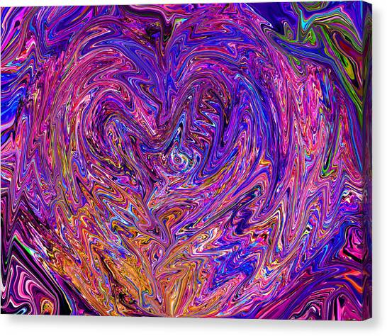 Love From The Ripple Of Thought  V 6  Canvas Print