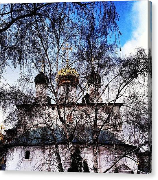 Orthodox Art Canvas Print - Сретенский #moscow_of_the_day by Denis Makhanko