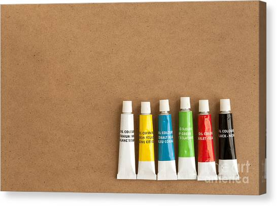 Oil Paint Tubes Canvas Print