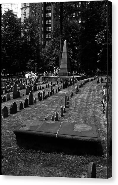 Old Boston Cemetery Canvas Print by Thomas D McManus