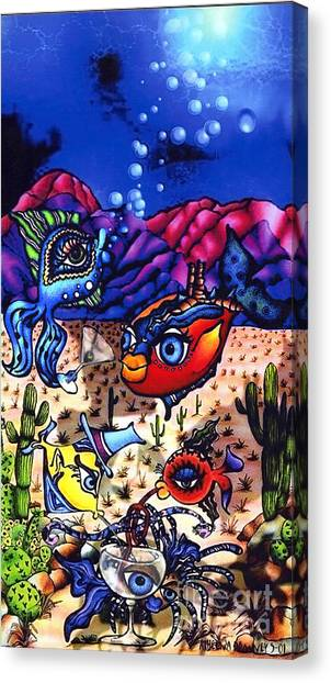 Pacifica In The Desert Canvas Print