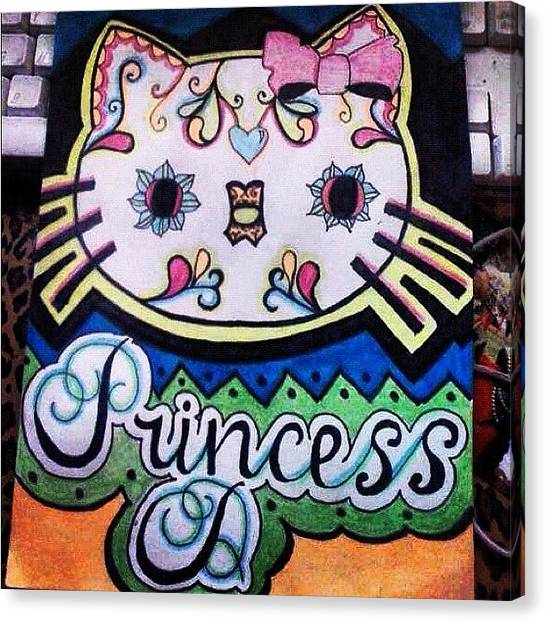 Princess Canvas Print - 👑🎀💗 #princess #d #me by Delaney Foley